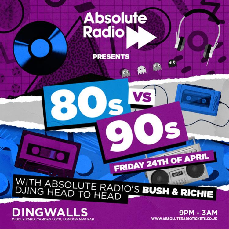 Absolute Radio 80s vs 90s - LIVE