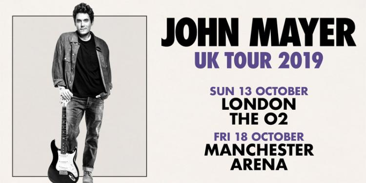 John Mayer UK tour