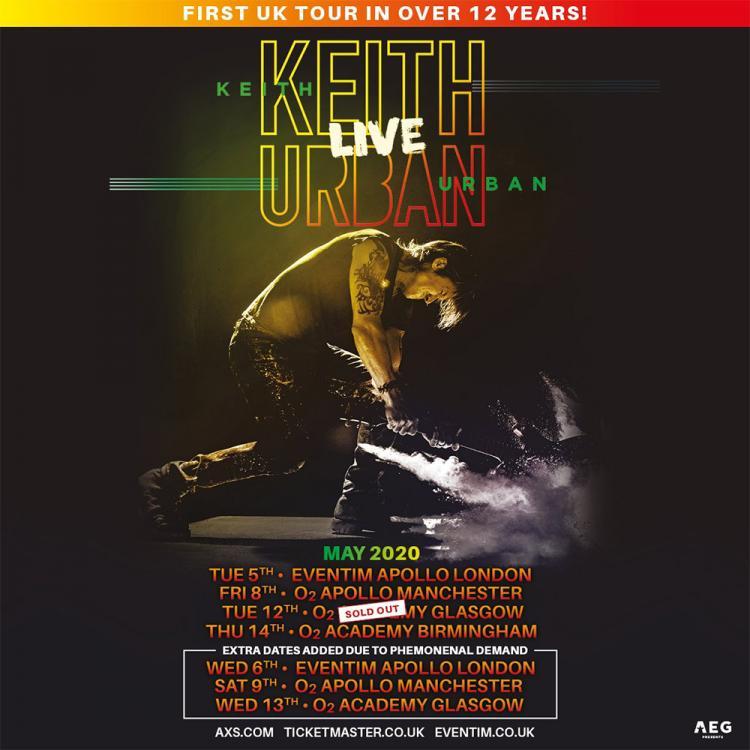 Keith Urban extra shows