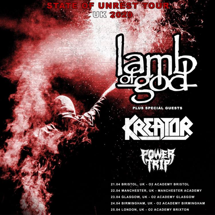 Lamb of God UK Tour