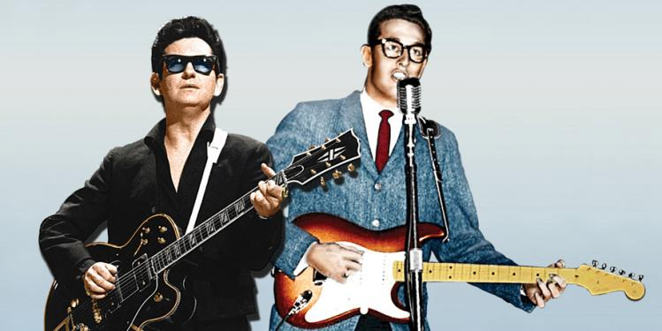 Roy Orbison and Buddy Holly