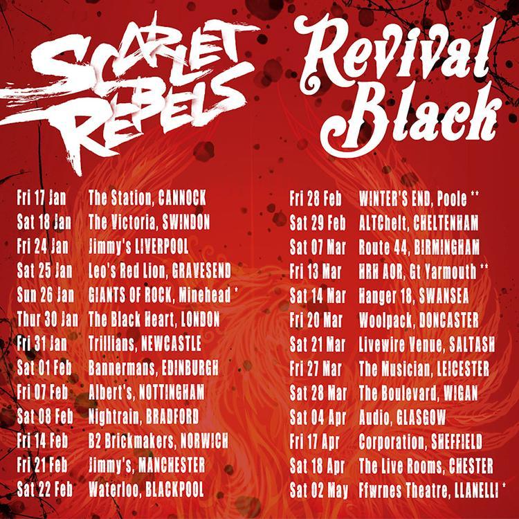 Scarlett Rebels and Revival Black